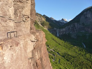 Climbers should use caution on Telluride's Via Ferrata until repairs are made.