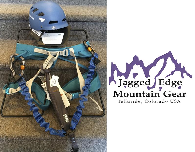 Jagged Edge Mountain Gear supplies all the equipment you need to climb Telluride Via Ferrata.