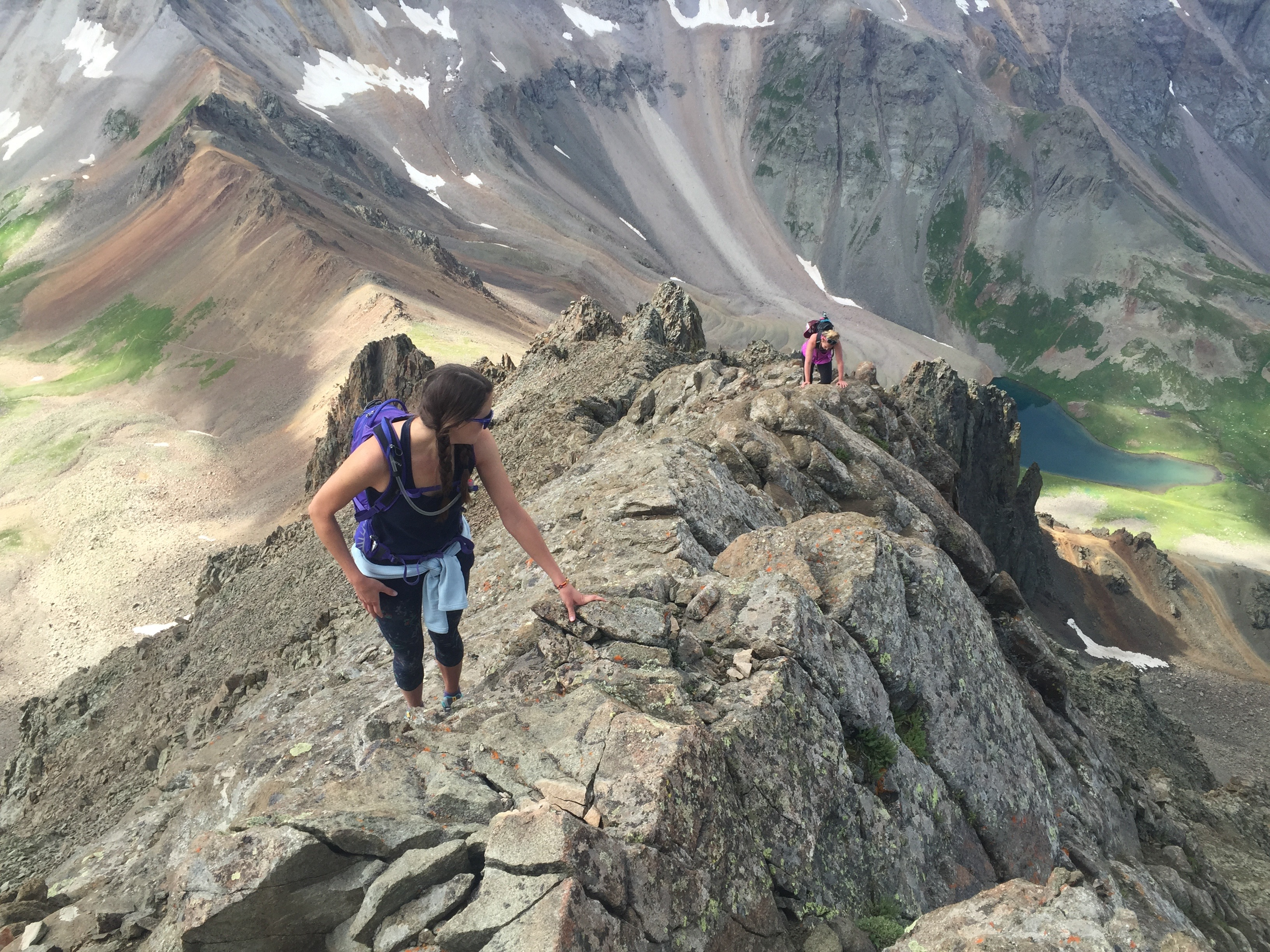 Headed up the Southwest Ridge on Mount Sneffels
